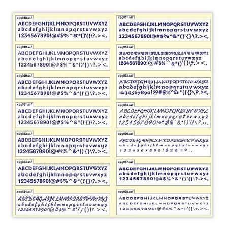Font Catalog 1