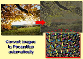 Convert any image to photostitch with CMYK colors